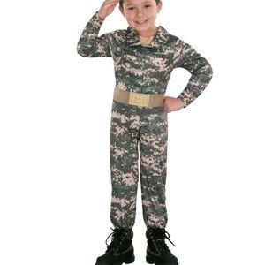 Tod Camo Lil ARMY Costume Sz 2T-4T NIP Missing HAT